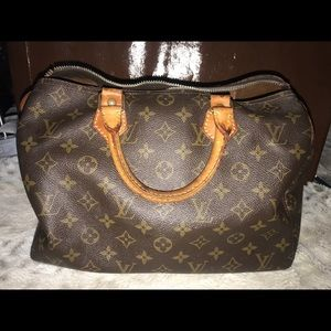 Authentic Louis Vuitton speedy 30 broken zipper